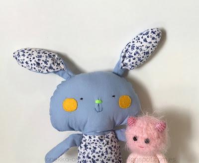 conejo de trapo anekka handmade