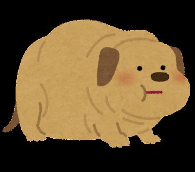 太った犬のイラスト