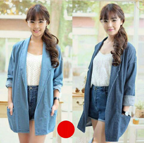 Jual Outer / Cardigan / Knit Levia Denim Outer - 13386
