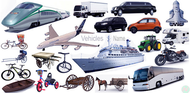 Learn Vehicles Names A to Z with Pictures | Necessary Vocabulary