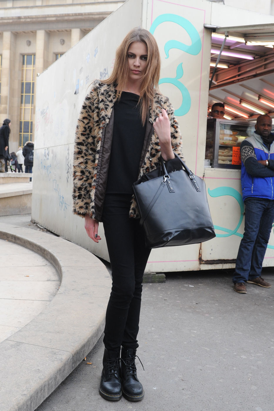 Paris Fashion Week Model Street Style Anna Selezneva