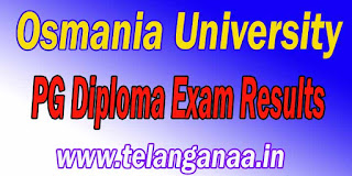 Osmania University PG Diploma Exam Results Download