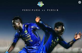 Jadwal Siaran Tunda Persipura vs Persib Bandung Antara Pkl 15.00  dan 18.00 WIB