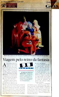 A Gazeta, 02/03/1997.