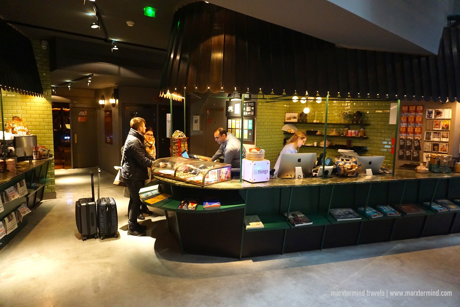 Reception Area of 25hours Hotel Terminus Nord