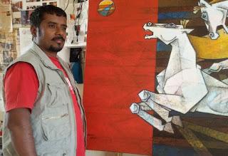 Artist Dinkar Jadhav