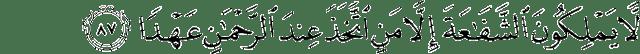 Surah Maryam ayat 87