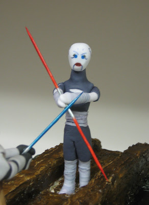 Star Wars: The Clone Wars Themed Cake - Obi-Wan Kenobi & Asajj Ventress Duel - Close Up of Ventress Figure 1