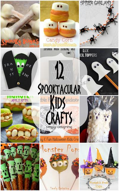 12 Spooktacular Halloween Kid Crafts   #halloween #kidcrafts #crafts #kids #diy   at Simply Designing
