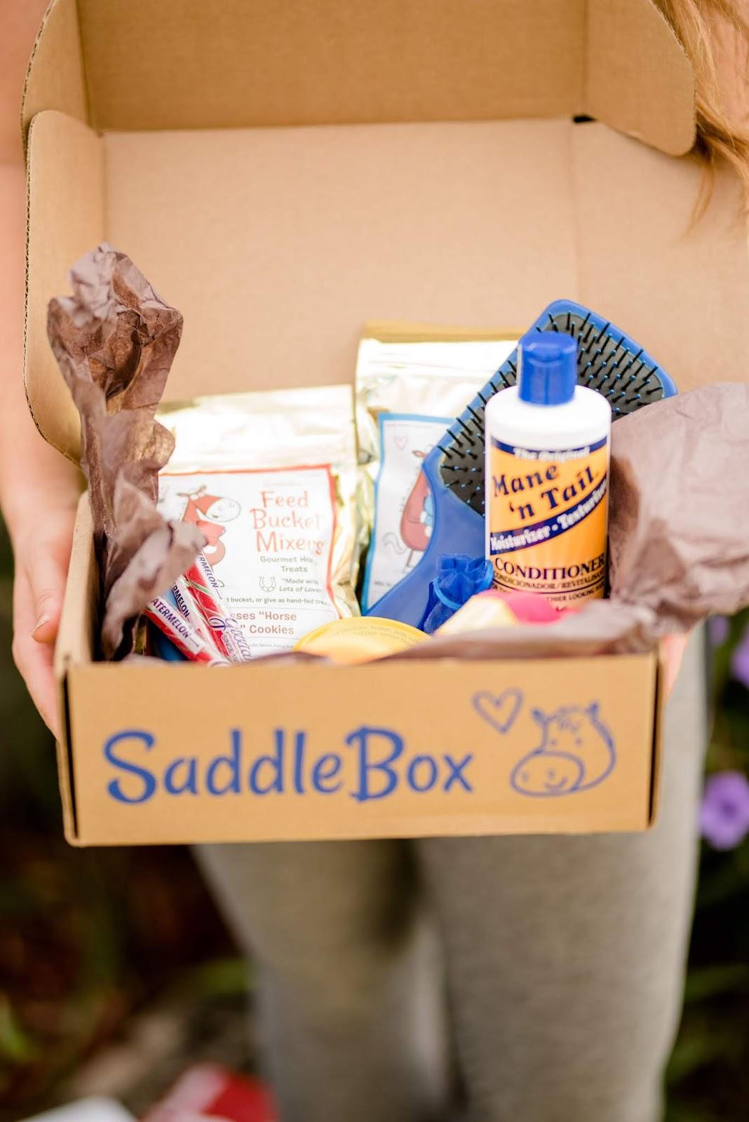 Saddlebox horse subscription box items