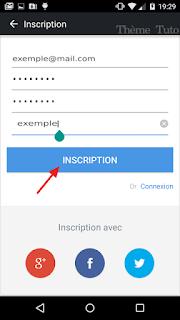 Inscription Compte AirDroid