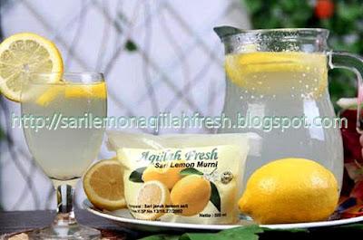 Cara Penyajian Sari Lemon Aqiilah Fresh