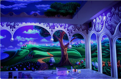 3D fluorescent wallpaper glow in the dark wall murals for kid's room 2019