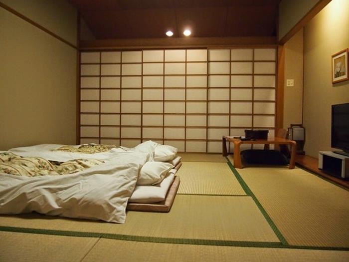 japon tarzı yer yatağı ve yatak odası tasarımı