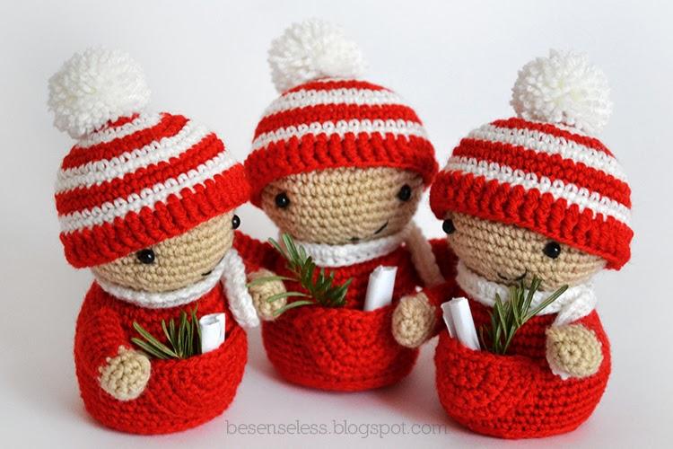 Il mio Babbo Natale amigurumi / Cartolelya | 500x750