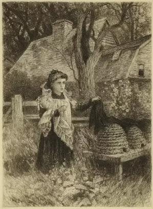 Telling the Bees, karya Albert Fitch Bellows. sekitar tahun 1882