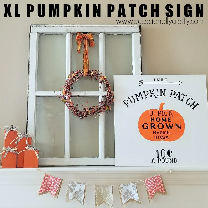 DIY Extra Large Pumpkin Patch Wooden Sign