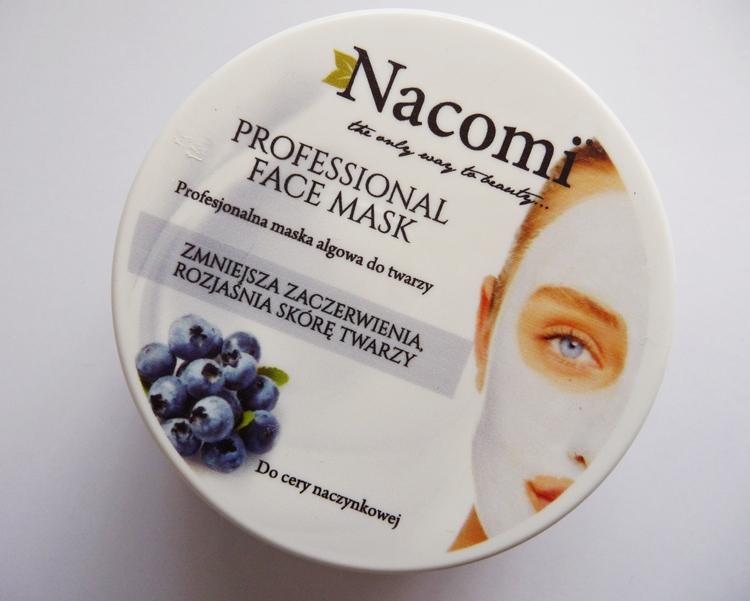 Maska algowa z borówką do cery naczynkowej, Nacomi