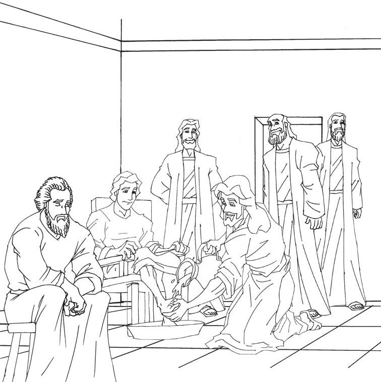 Compartiendo por amor: Jesús lava los pies a sus discípulos