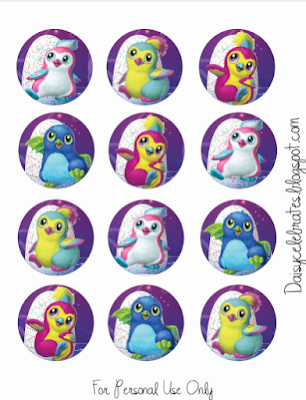 Hatchimals cupcake toppers