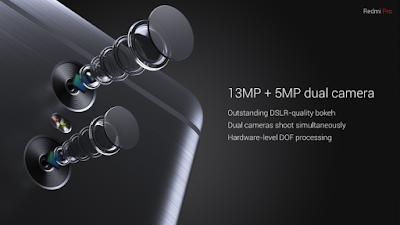 Xiaomi Redmi Pro 13MP + 5MP Dual Camera
