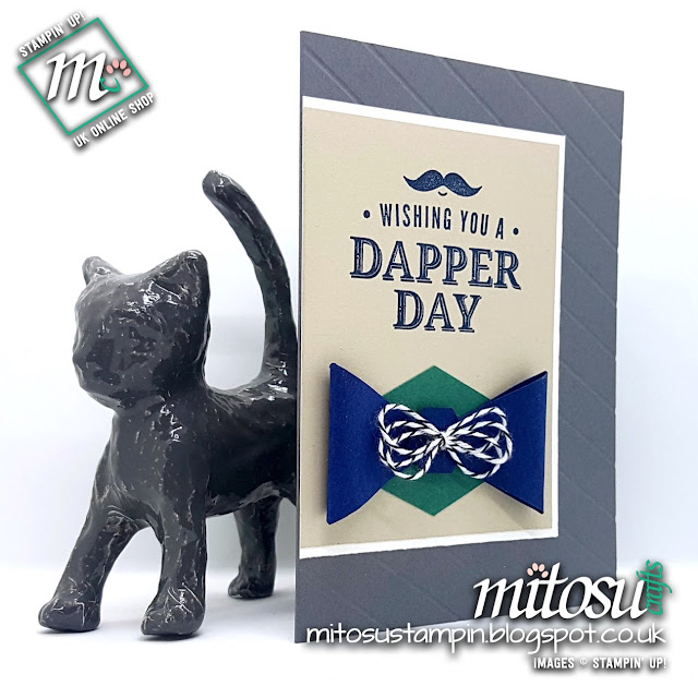 Stampin' Up! Truly Tailored SU Man Card Idea for Paper Craft Crew Card Sketch Challenge #PCC281 order craft from Mitosu Crafts UK Online Shop