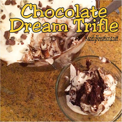 This is my favorite cake of all time! It's a dream to create AND eat because it's so easy and delicious.  With a few simple ingredients and a short amount of time, you could be enjoying this Chocolate Dream Trifle dessert this afternoon and celebrating the end of the day.