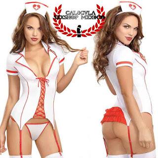 Sexy Disfraz Lenceria de Sexy Enfermera, Liguero y Sexy tanga Disfraz Juegos eróticos sexuales de rol dreamgirl enfermera blanco