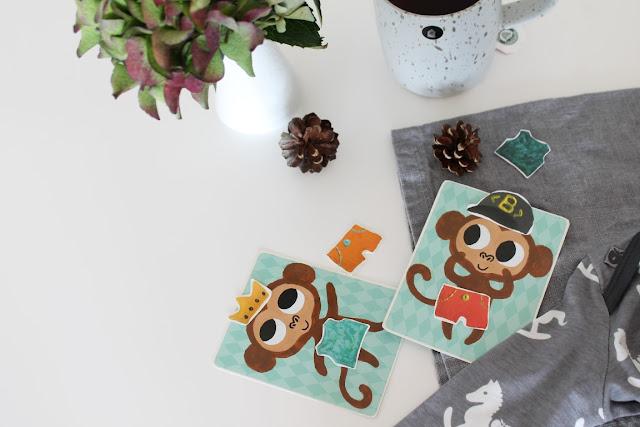 Spiel Affen anziehen Herbstwald Waldbesuch Smafolk ELTERN Herbstkollektion Kooperation Fall 2017 Herbstfunde Wald Jules kleines Freudenhaus