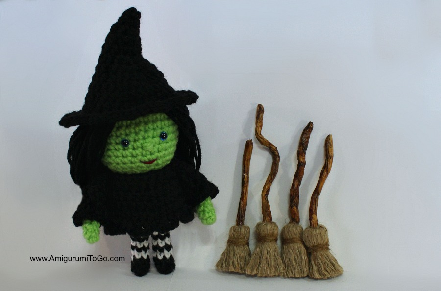 Smallish Witch Free Crochet Pattern Amigurumi To Go