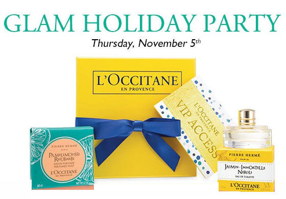 L'OCCITANE Glam Holiday Event