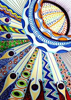 Dibujo de la artista Pilar París.