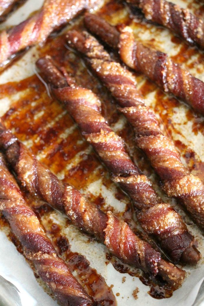 Bacon Wrapped Brown Sugar Pretzels Recipe