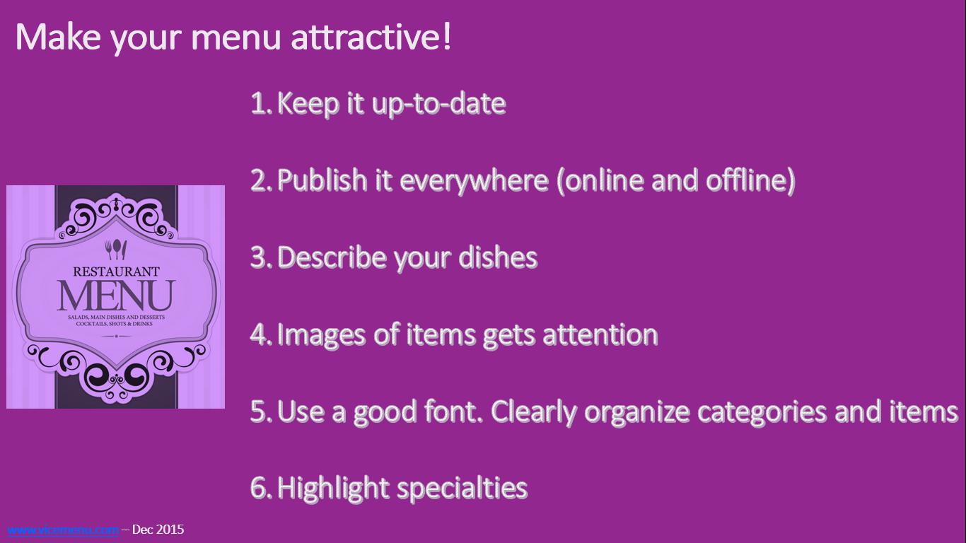 datamattic inc blog 6 things that make restaurant menus