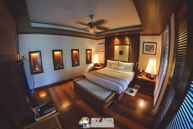 The spacious bedroom that can fit a family of three - Tanjong Jara Resort