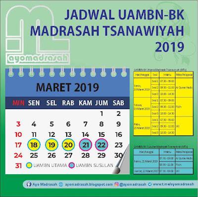 Jadwal UAMBN MTs 2019