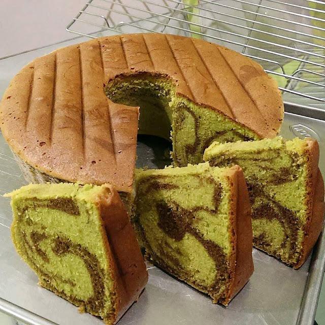 Cara membuat kue bolu Pandan buttercake