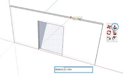 Membuat Efek 3 Dimensi di Google SketchUp dengan Menggunakan Perintah Push/Pull (Menambah Ketinggian dan Melubangi Dinding)