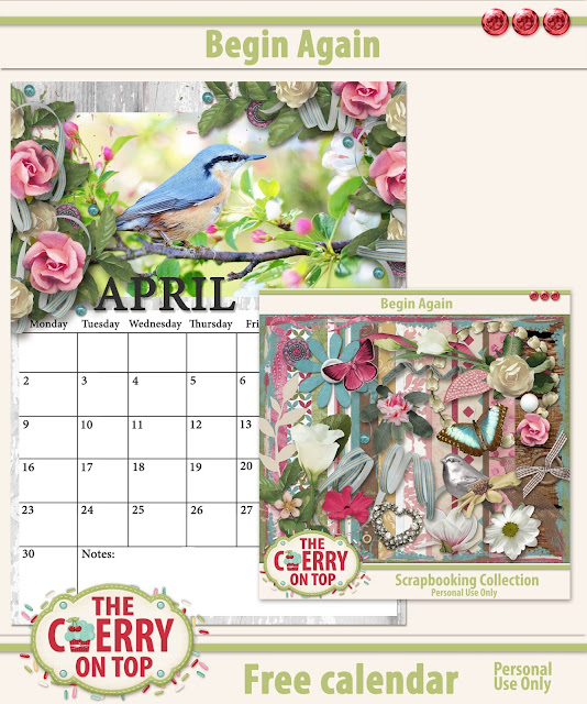 free printable calendar for April