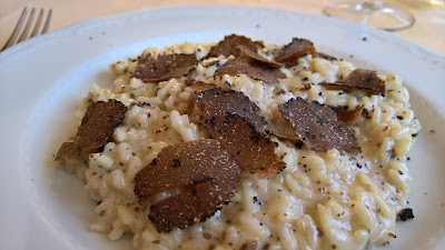 Trattoria Dentella: Risotto with local tartufo nero.