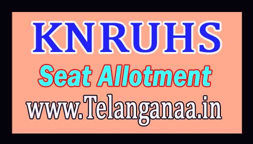 KNRUHS BAMS / BUMS / BHMS & BNYS 2nd Phase Seat Allotment Order 2016