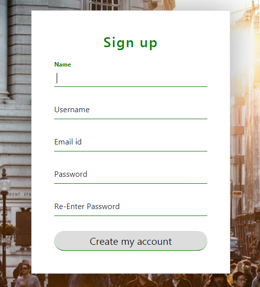 Designing bootstrap sign-up forms with floating label - myfreeadvise