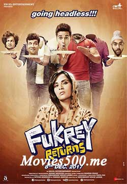 Fukrey Returns 2017 Bollywood 300MB DTHRip 480p at movies500.xyz
