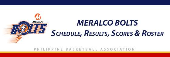 PBA: Meralco Bolts Schedule, Results, Scores, Roster