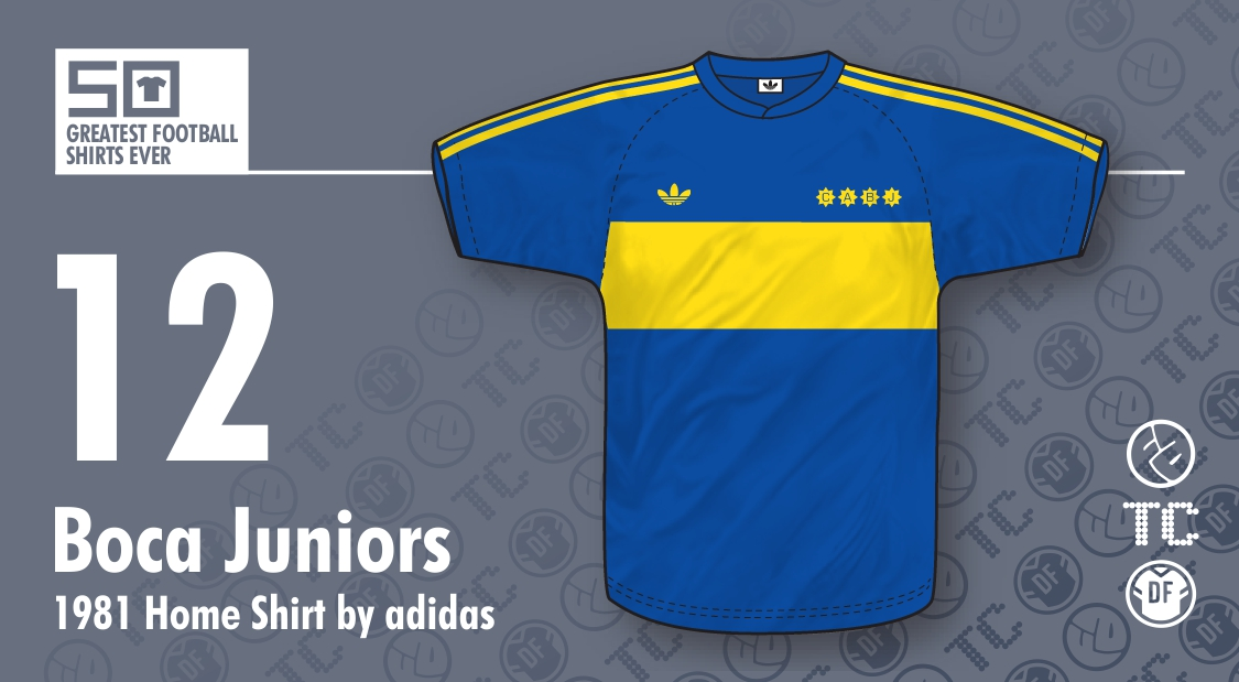 separation shoes e8ad1 0bd36 50GFSE] #12 - Boca Juniors 1981 Home Shirt by adidas ~ The ...