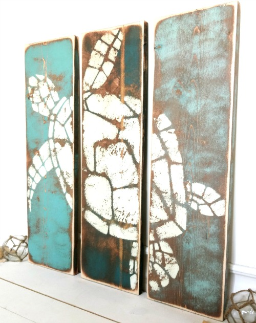 Coastal Art on Wood