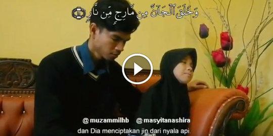 VIDEO: Bacakan Surat Ar Rahman, Suara Indah Hafidzah Cilik Yang Tunanetra Ini Membuat Muzammil Tertegun
