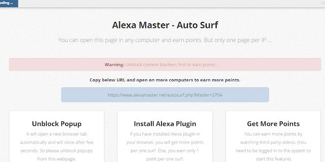 شرح موقع alexamaster للربح من الانترنت و طريقة مضاعفة الارباح