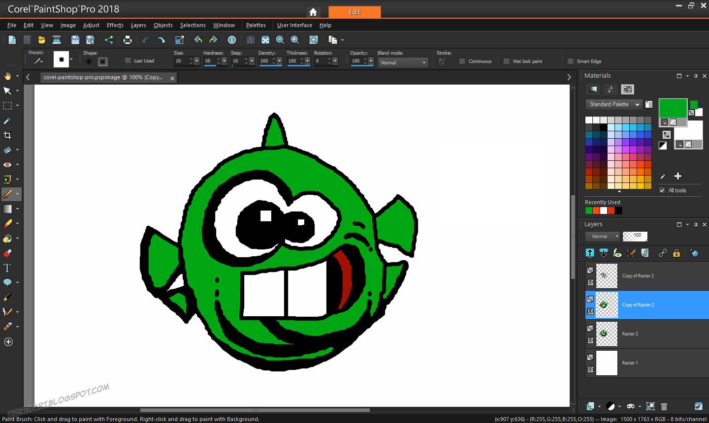 CosbyArt: Art Review: Corel PaintShop Pro