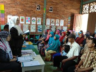 sambutan dari kepala sekolah PAUD Al-Zaytun Ustazah Mar'atu Soleha, S.Pd.I